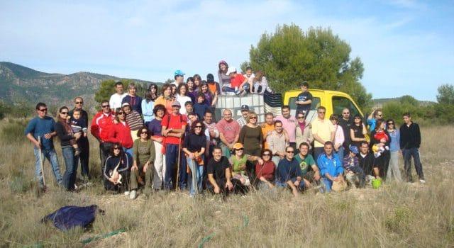 Siembra de 250 árboles en la Sierra de Ricote 1