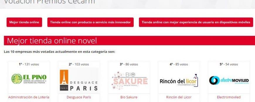 Desguace París finalista en los Premios CECARM a Mejor tienda online Novel 1
