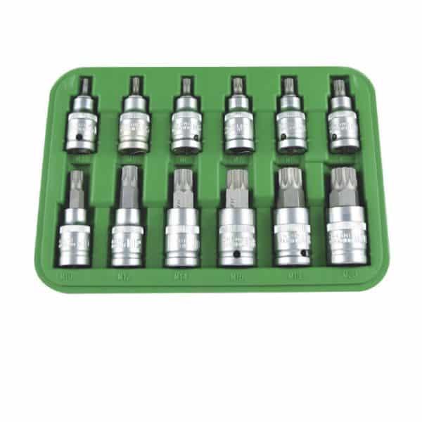 Maletin JBM Set 12 piezas 1/2'' punta 12 cantos 1